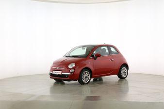 Fiat 500 1.2 Lounge Fahrerseite leicht seitlich von vorne, geschlossen